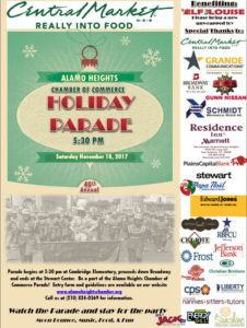 Alamo Heights Holiday Parade Flyer Artwork